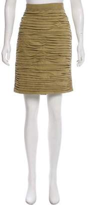 Gucci Knee-Length Suede Skirt