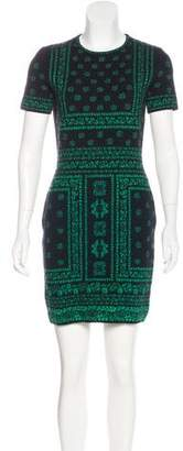 Alexander McQueen Wool-Blend Jacquard Dress