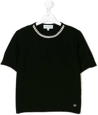 Simonetta cashmere embellished top