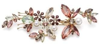 Erdem Crystal Embellished Floral Brooch - Womens - Pink