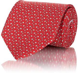 Salvatore Ferragamo Men's Desk-Lamp-Print Silk Twill Necktie
