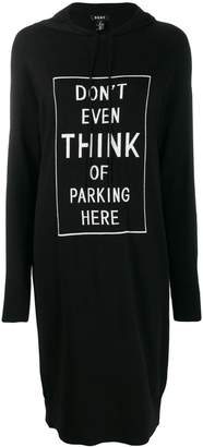 DKNY Parking Here hooded dress