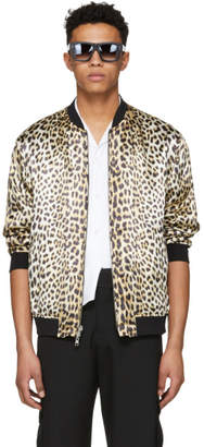 3.1 Phillip Lim Reversible Navy and Leopard Bomber Souvenir Jacket