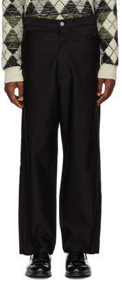 Junya Watanabe Black Wool Satin Trousers