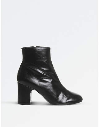 Office Applause leather ankle boots