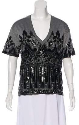DSQUARED2 Sequin-Embellished Short Sleeve Top