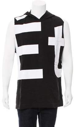 Etudes Studio Sleeveless Logo Print Sweatshirt