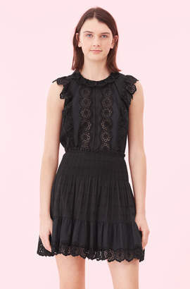 Rebecca Taylor La Vie Cendrine Embroidered Skirt