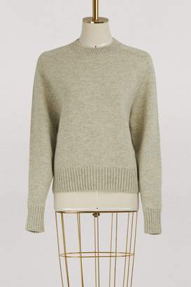 CLine Crew neck sweater in double face Shetland wool and cashmere