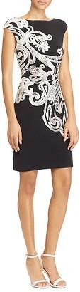 Lauren Ralph Lauren Printed Cap-Sleeve Sheath Dress $145 thestylecure.com
