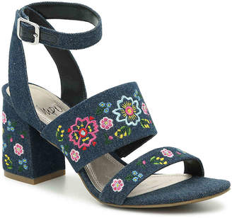 Impo Varick Sandal -Blue Floral Embroidered Denim - Women's