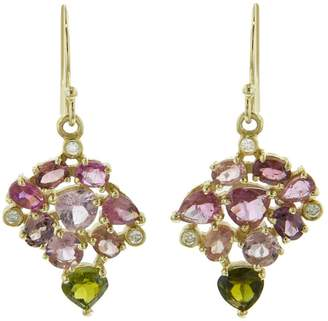Noga Eva Asarum Earrings - Yellow Gold