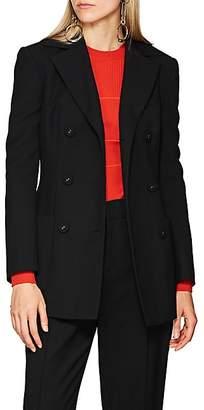 Proenza Schouler Women's Wool Double-Breasted Blazer - Black