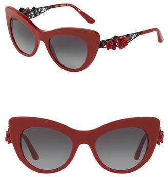 fe2b6d7a4d ... Dolce   Gabbana 52mm Flowers Lace Cat Eye Sunglasses