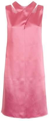 Emporio Armani Crossover Satin Dress