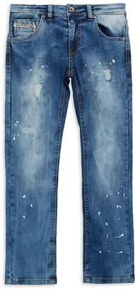 Diesel Boy's Distressed Washed Jeans