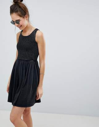 Asos Design DESIGN shirred bodice sundress in oil wash