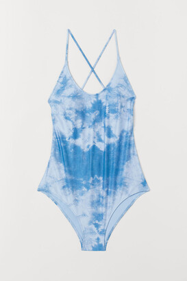 H&M Swimsuit with Lacing - Blue