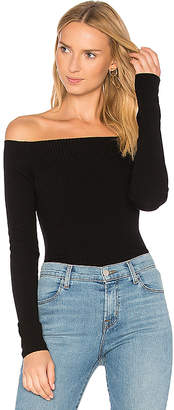 Autumn Cashmere Ribbed Off Shoulder Sweater