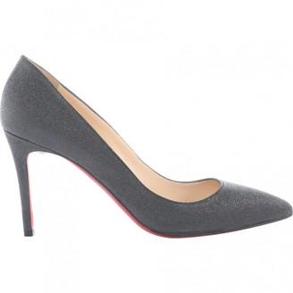 Christian Louboutin Pigalle Grey Glitter Heels