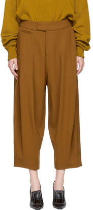 Studio Nicholson Brown Wool Balloon Trousers