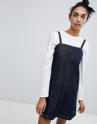 Calvin Klein Jeans A Line Slip Dress In Denim