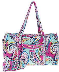 Vera Bradley Iconic Signature Large Duffel withCosmetic Case