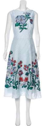 Lela Rose Bateau-Neck Full-Skirt Dress w/ Tags
