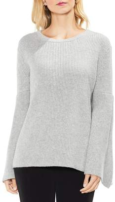 Vince Camuto All Over Rib Bell Sleeve Sweater (Petite)