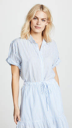 XIRENA Chance Short Sleeve Button Down Blouse