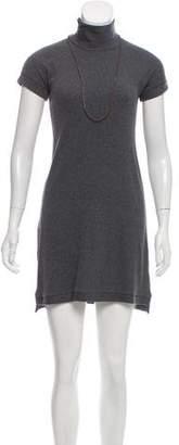 Brunello Cucinelli Short Sleeve Mini Dress