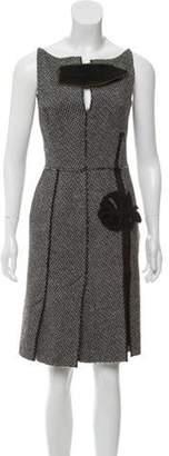Prada Wool Shift Dress Black Wool Shift Dress