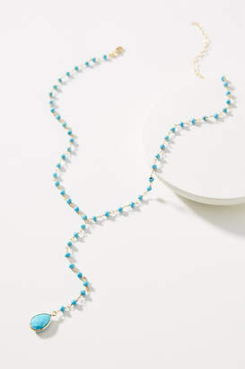 Jemma Sands Crosby Gemstone Lariat Necklace