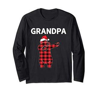Grandpa Bear Christmas Long Sleeve For Men Plaid Pajamas