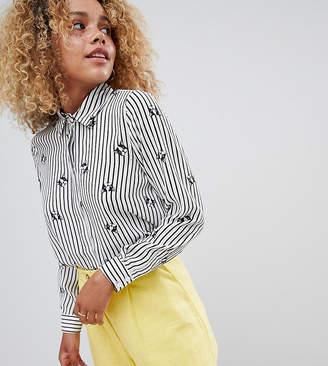 Asos DESIGN Petite soft shirt in french bulldog print