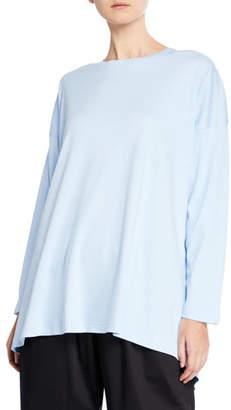 eskandar Cotton Basic Cascading T-Shirt