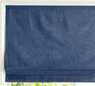 Pottery Barn Custom Emery Cordless Roman Shade - Navy