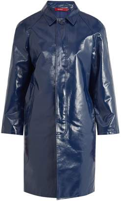 SIES MARJAN Point-collar coated-cotton trench coat
