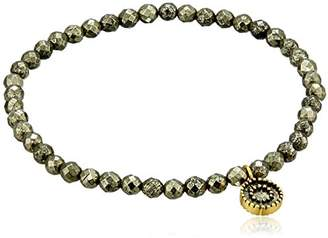 Satya Jewelry Sun 4mm Pyrite Stretch Bracelet