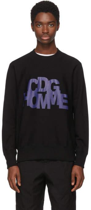 Comme Des Garçons Homme Black Logo Sweatshirt