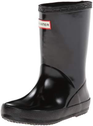 Hunter Boots Girls' Original Big Kids Gloss Rain Boot 4 M US