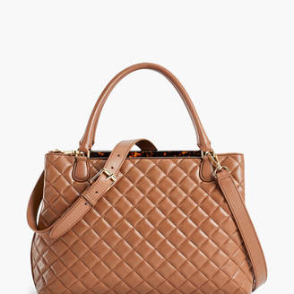 Talbots Quilted Nappa Leather Tote Bag