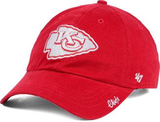 '47 Brand Women's Kansas City Chiefs Glitter Logo Clean Up Cap $25.99 thestylecure.com