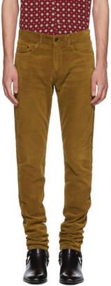 Saint Laurent Tan Skinny Cord Trousers