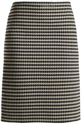 Balenciaga Checked wool-blend pencil skirt