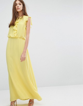 Oasis Ruffle Front Maxi Dress $114 thestylecure.com