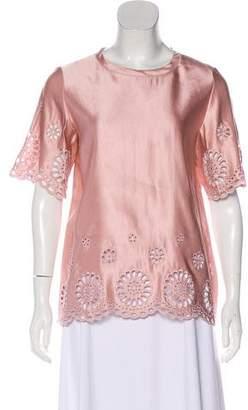 Paule Ka Embroidered Sleeveless Blouse w/ Tags