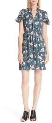 Rebecca Taylor Emilia Floral Silk Jacquard Dress