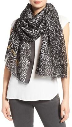 Women's Kate Spade New York Dappled Cotton & Silk Scarf