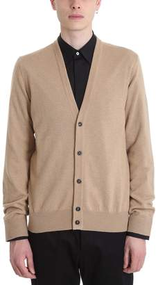 Maison Margiela Cardigan In Beige Wool
